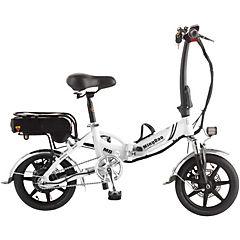 Bicicleta eléctrica plegable blanca aro 14