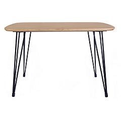 Mesa hairpin-120 75x80x120 cm madera natural