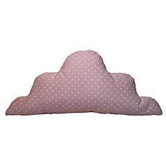 Cojín nube puntos rosado 60x25 cm
