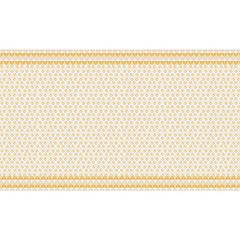 Mantel 180x270 cm blanco/amarillo rectangular tela