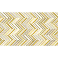 Mantel 160x270 cm blanco/amarillo rectangular tela