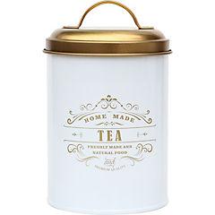 Latón para té con tapa dorada