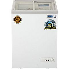 Freezer horizontal 100 litros tapa de vidrio curvo