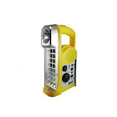 Linterna led recargable 2,4 w con radio