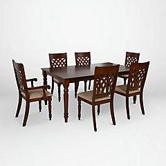 Juego de comedor madera 4 sillas + 2 sitiales