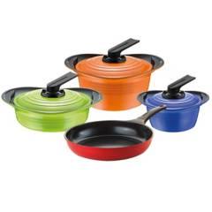ROICHEN - Batería de cocina 7 piezas cerámica colores