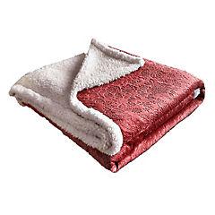 Frazada sherpa 2 plazas 3D rojo
