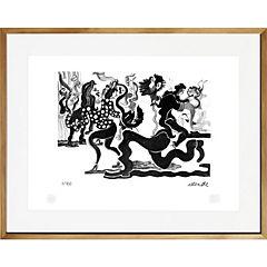 Cuadro 67x87 cm Cueca artista Fernando Allende