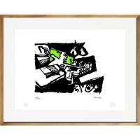 Cuadro 67x87 cm Profesor artista Bororo