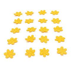 Flor de aplicación con puntos 50 unidades naranjo