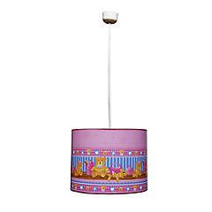 Lámpara colgar baby rosa 1 luz
