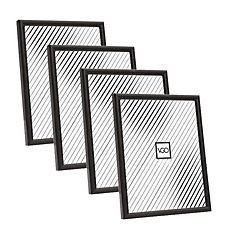 Pack 4 marcos plásticos 10x15 cm negro
