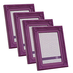 Pack 4 marcos plásticos antique 10x15 cm morado
