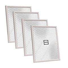 Pack 4 marcos plásticos 13x18 cm blanco