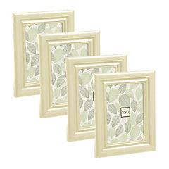 Pack 4 marcos simil madera  10x15 cm natural
