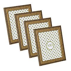 Pack 4 marcos antique brilloso 10x15 cm dorado