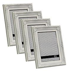Pack 4 marcos plástico antique 13x18 cm blanco