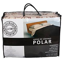 Set sábana polar 1.50 plaza diseño deco