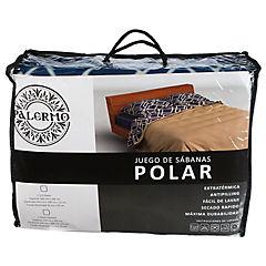 Set sábana polar 1.50 plaza diseño giotto a/m b