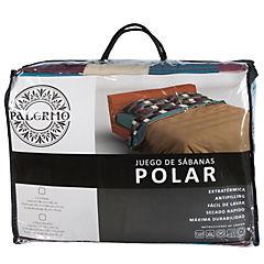 Set sábana polar 2 plazas diseño millie