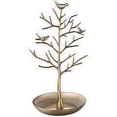 Árbol de metal color dorado 31,7 cm