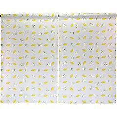 Cortina cocina limones 2 paños 70x115 cm