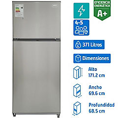 Refrigerador no frost top freezer 371 litros