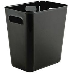 Basurero plástico negro