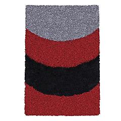 Alfombra shaggy Roma 50x90 cm arco rojo
