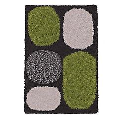 Alfombra shaggy Roma 150x220 cm piedras verde