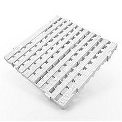 Piso modular industrial blanco plataforma 50x50 cm