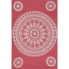 Alfombra dhurrie printed 50x80 cm mandala rojo