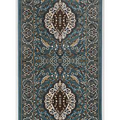 Alfombra shadrazad ottoman palace 80x220 cm Azul/Beige