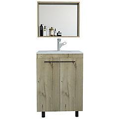 Espejo mueble lavamanos piso khari 60 - duna blanco