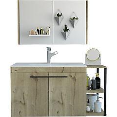 Botiquín mueble lavamanos flotante khari 80 - duna blanco