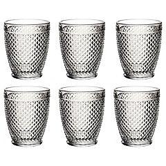 Set de 6 vasos de vidrio bajo diablo 337 cc