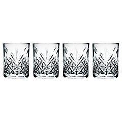 Set de 4 vasos vidrio bajo timeless 205 cc