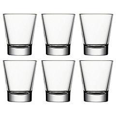 Set 6 vaso vidrio conico 85 cc