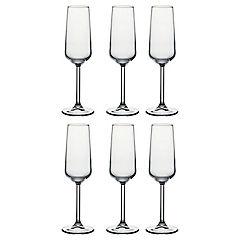 Set de 6 copas vidrio flauta 195 cc