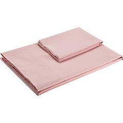 Sábana 144 hilos rosa 1 plaza