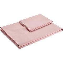 Sábana 144 hilos rosa 2 plazas