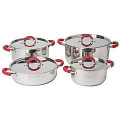 Batería de cocina 8 piezas acero inoxidable