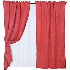 Set cortinas Leticia 8 piezas rojo