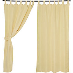 Set cortinas jacquard nogal 140x220 cm crema