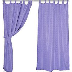 Set cortinas jacquard ébano 140x220 cm lila