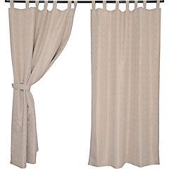 Set cortinas jacquard ébano 140x220 cm taupe