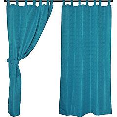 Set cortinas jacquard ébano 140x220 cm multicolor
