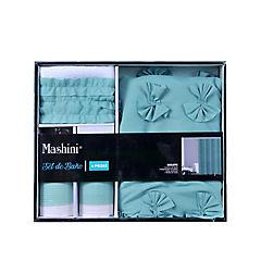 Set cortina con aplicaciones 4 piezas poliéster 180x180 cm turquesa