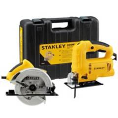 STANLEY - Kit eléctrico sierra circular 1600 W + sierra caladora 600 W