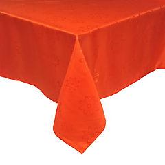 Mantel Agatha 180x180 cm naranjo cuadrado poliéster